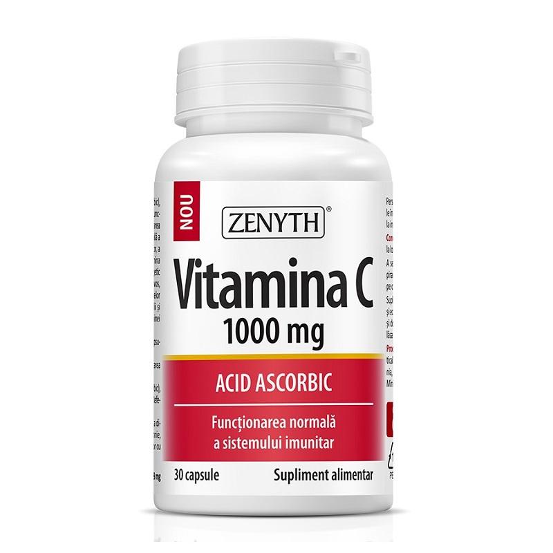 Vitamina C 1000 mg, 30 capsule, Zenyth