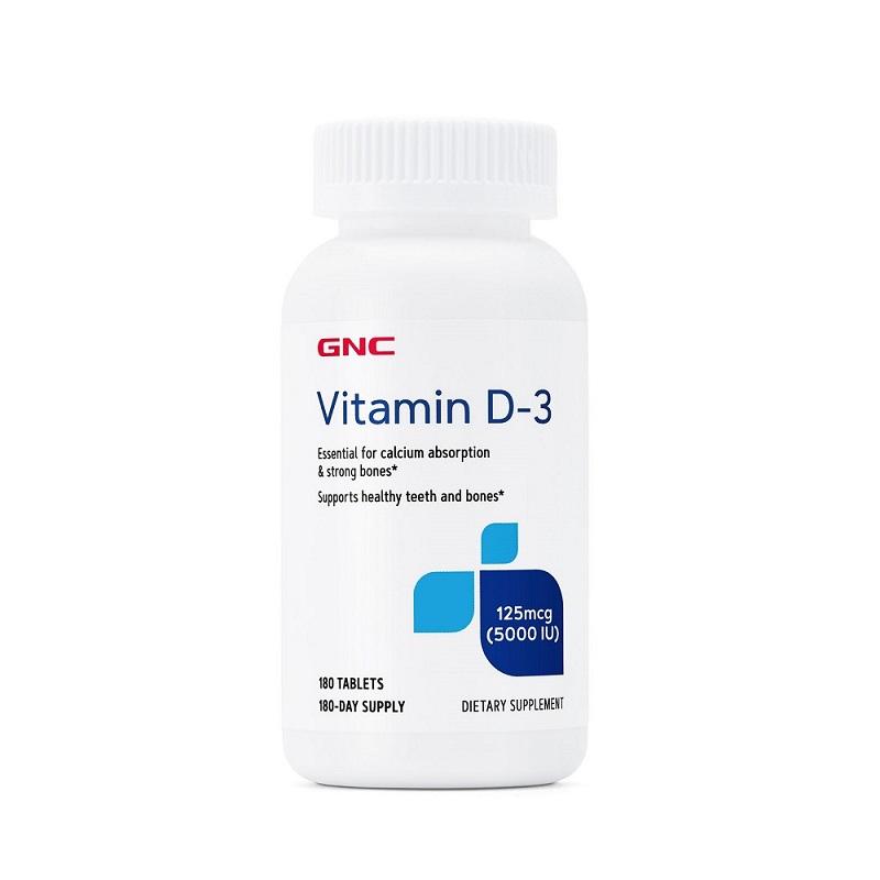 Vitamina D-3 125 Mcg, 5000 IU (145223), 180 tablete, GNC