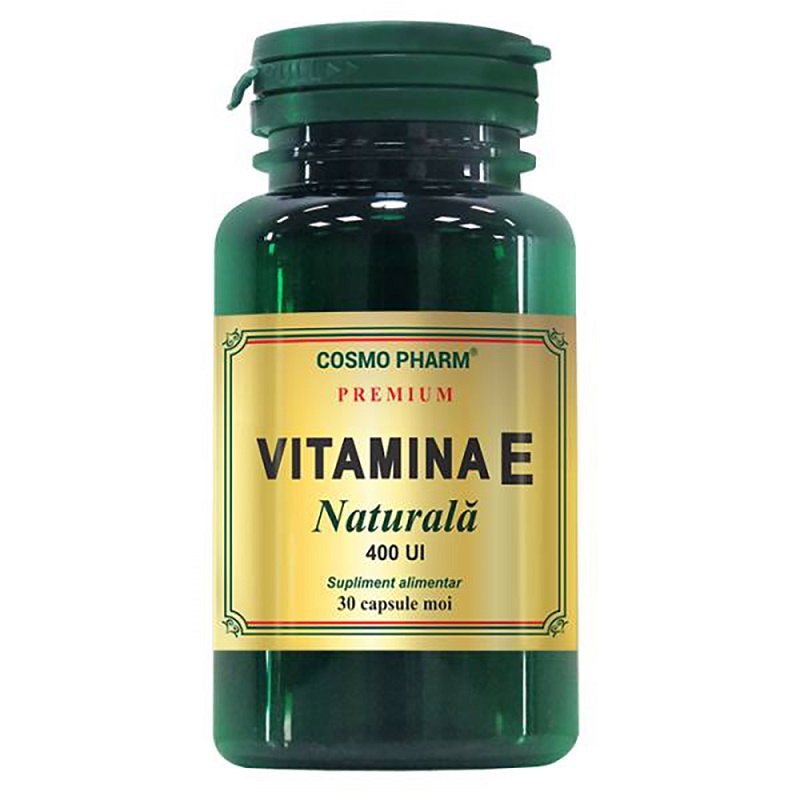 Vitamina E Naturală, 30 capsule, Cosmopharm