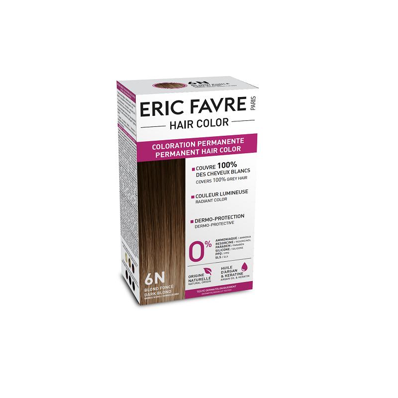 Vopsea de păr nuanța 6N, Blond Inchis, 130 ml, Eric Favre