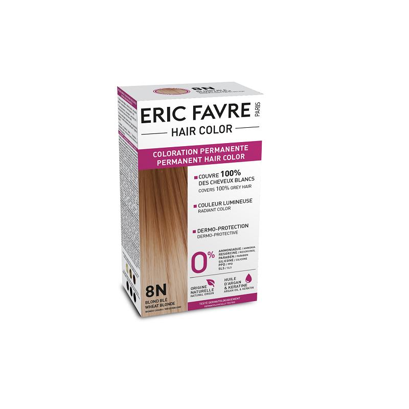 Vopsea de păr nuanța 8N, Blond Deschis, 130 ml, Eric Favre